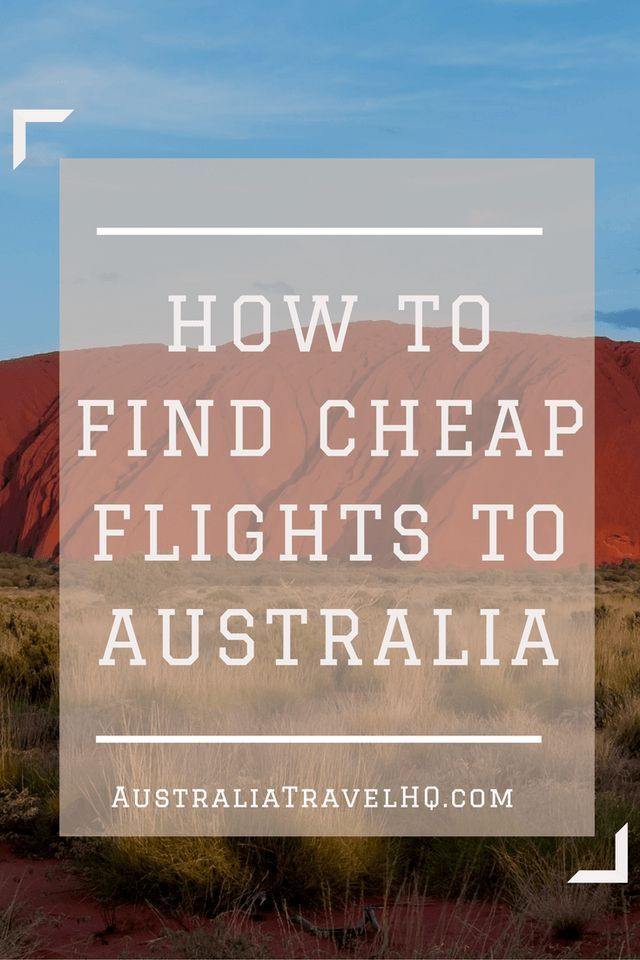 For many people, the major downside of traveling to Australia is that it's so far away, and as such, it can cost quite a bit to get here. Thankfully, there are several ways you can learn how to find cheap flights.