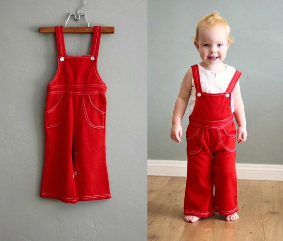 1aece30227a7 children's clothing - very cool vintage red overalls #flourclothing ...