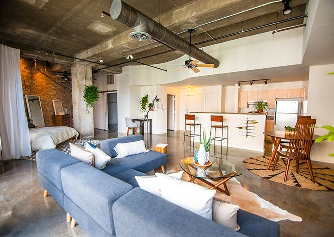 In Addition To Traditional Apartment Homes Post Addison Circle Offers Stylish Lofts And Spacious Studio Apartment Design Studio Apartment Layout Studio Living