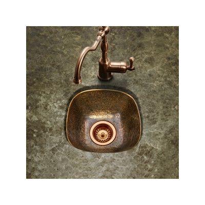 Hammerwerks 12 5 L X 12 5 W Schnapps Bar Prep Sink Prep Sink Bar Sink Sink
