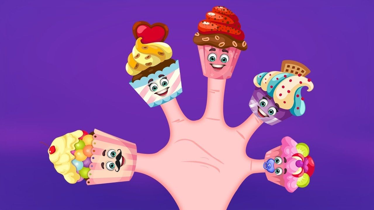 The Finger Family Cup Cakes Family Nursery Rhyme   Cup Cakes Finger Family Songs