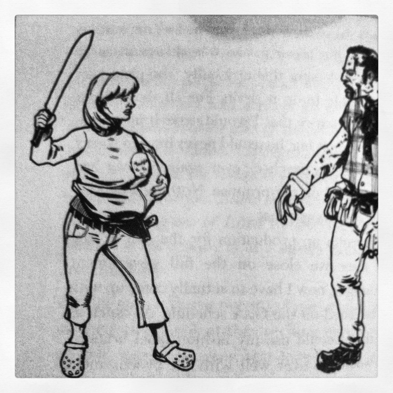 How to protect your baby from the living dead:)  The Zombie Combat Manual.