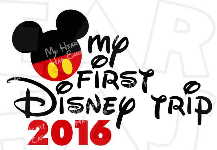 my first disney trip 2016 mickey mouse head ears instant download rh pinterest com disney world clip art etsy disney world clipart free