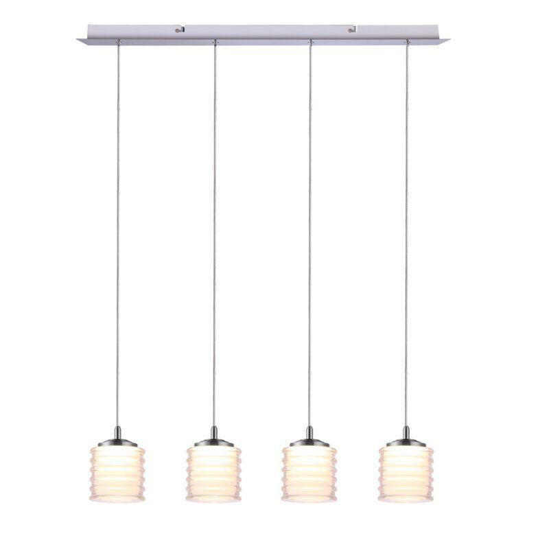 Boley 4 Light Led Cluster Cylinder Pendant Led Lights Ceiling Pendant Lights Ceiling Fan With Remote