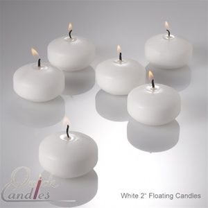 Most inexpensive floating candles online - $.48 each :)