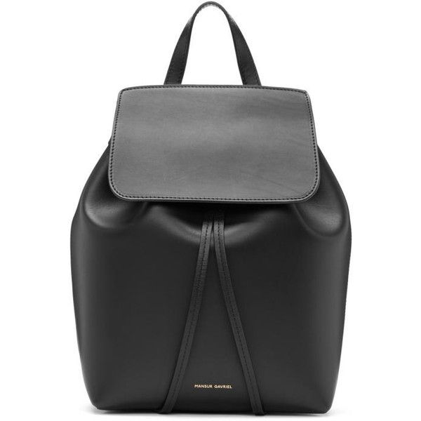 9dfc8ed2fe Mansur Gavriel Black Leather Mini Backpack (16.625 UYU) ❤ liked on Polyvore  featuring bags