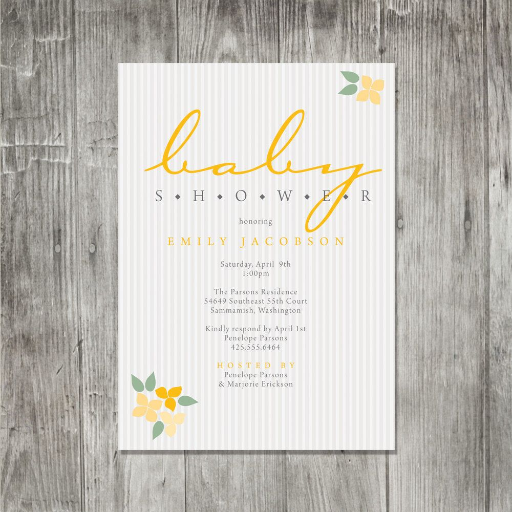 Coed Baby Shower Invitation Wording | Blossom Bunches Baby Shower ...