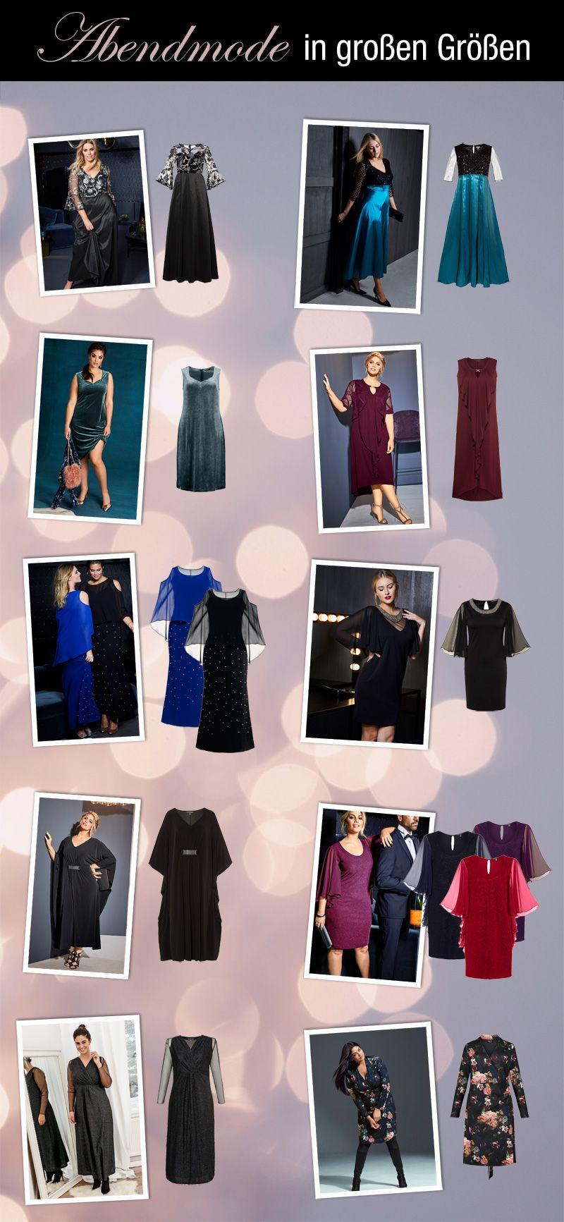 Abendmode in großen Größen  Mode, Elegante abendkleider, Party mode