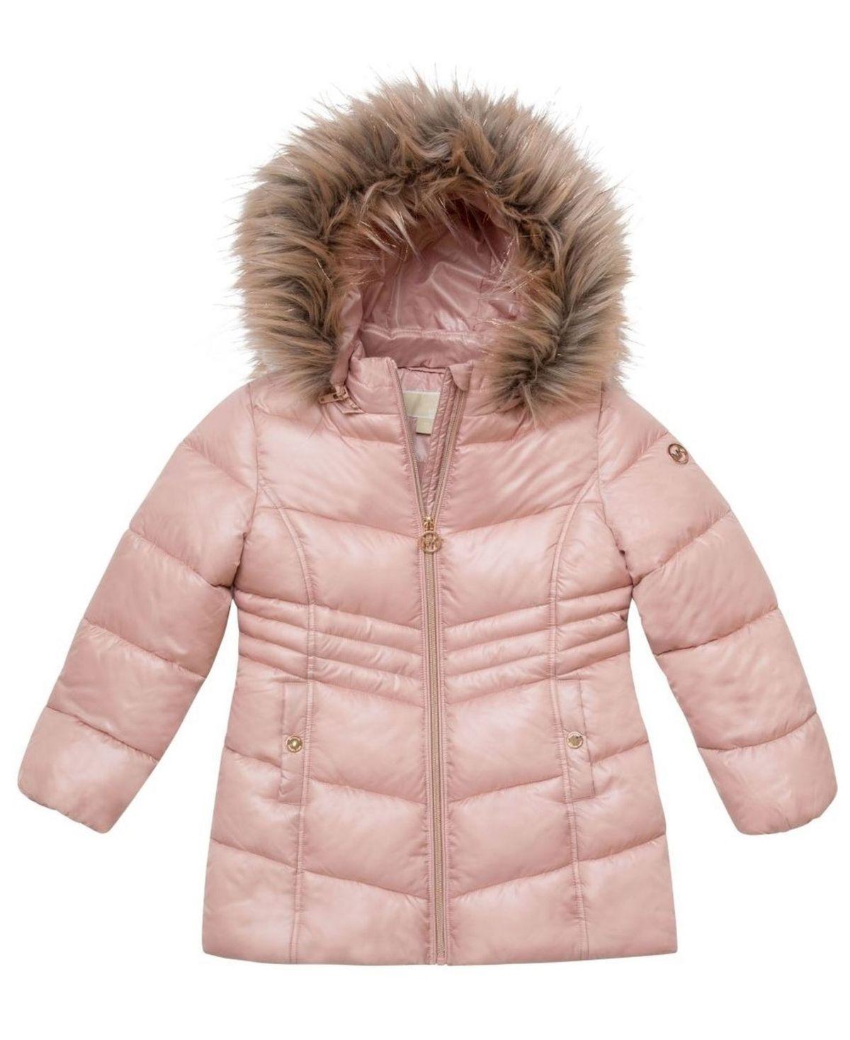 Michael Kors Toddler Girls Stadium Length Puffer Jacket Light Pink In 2021 Girls Puffer Coat Girls Puffer Jacket Toddler Girl Puffer Coats [ 1467 x 1200 Pixel ]