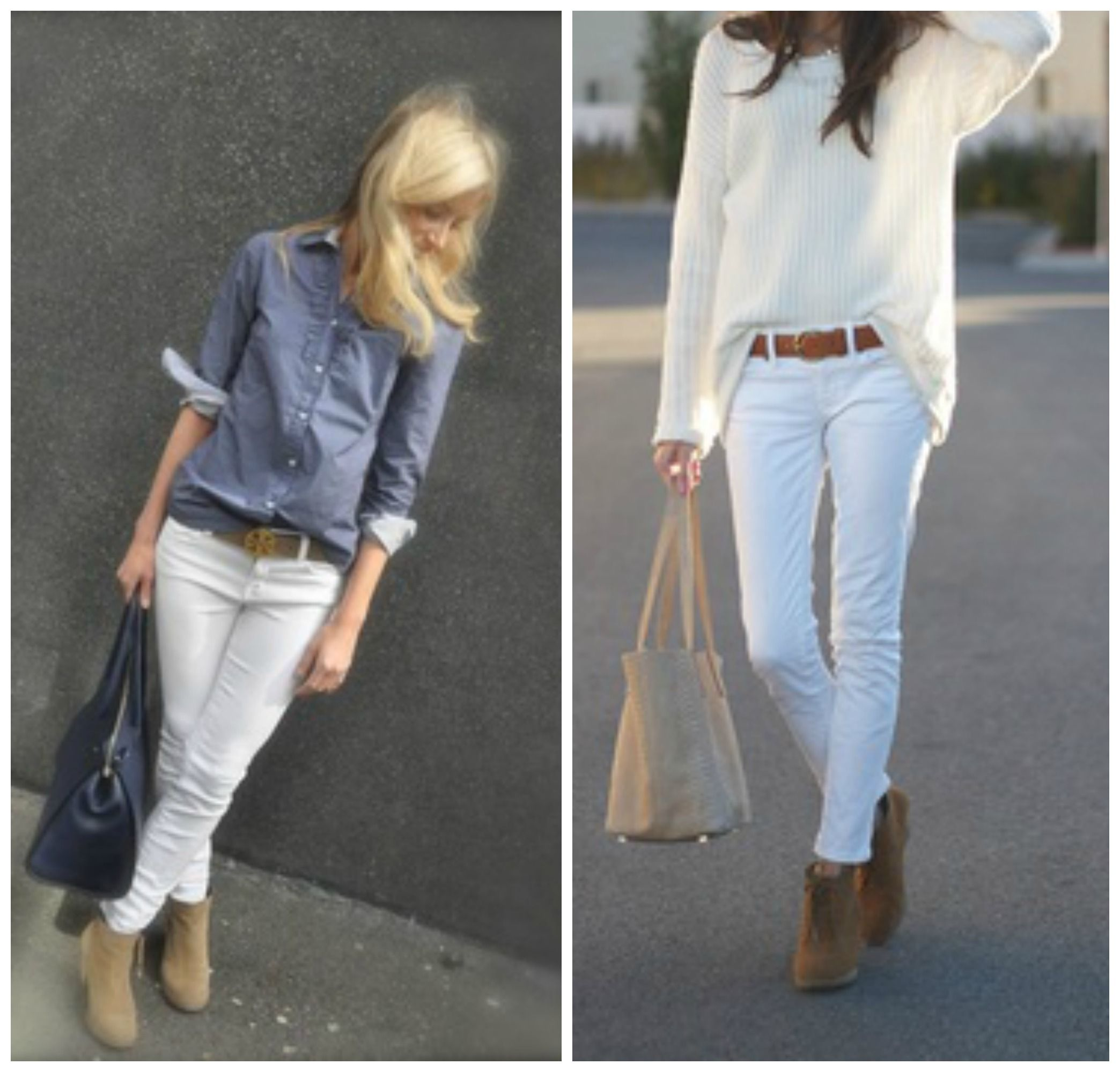 The case for wearing white jeans year,round. White jeans outfits for summer,
