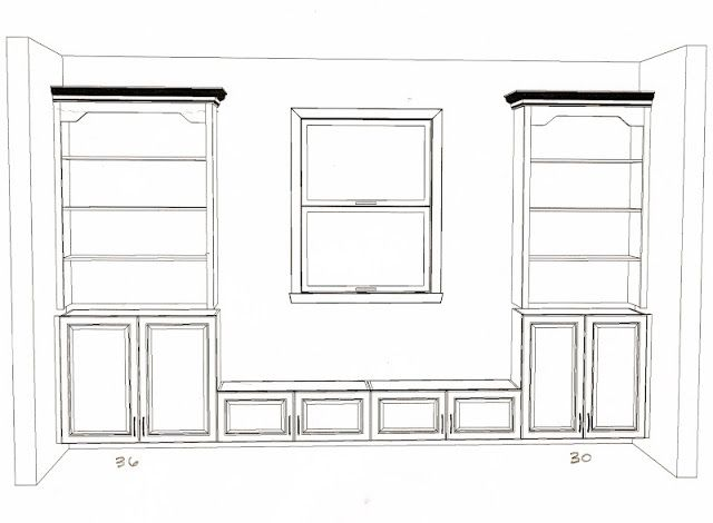 Organized Chaos: Building built -in bookshelves!!