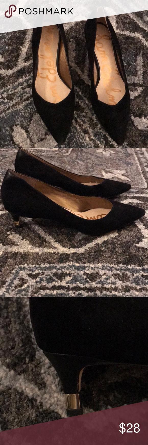 46da2dd93145 Sam Edelman Dori Pump size 7 Sam Edelman Dori Pump black suede. Size 7 and  in great condition as the shoe was ever only worn once. Heel style is Kitten  Heel ...