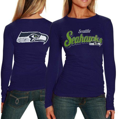 f2232eb6533 Seattle Seahawks Ladies Team Pride Long Sleeve - Blue. Seahawks  ApparelSeahawks ...