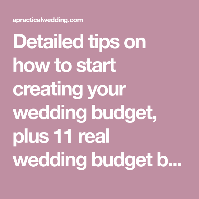 how to create a perfect for you wedding budget wedding