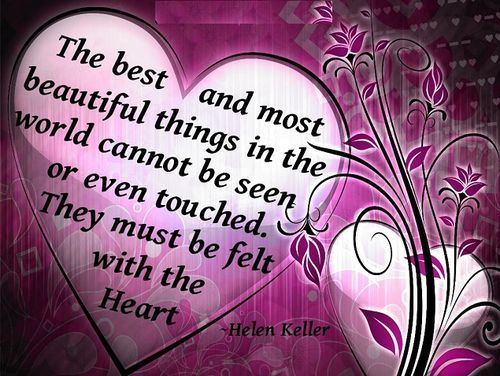Valentine Quotes Classy Eq Best Quotehelen Keller The Best And Most Beautiful Things .