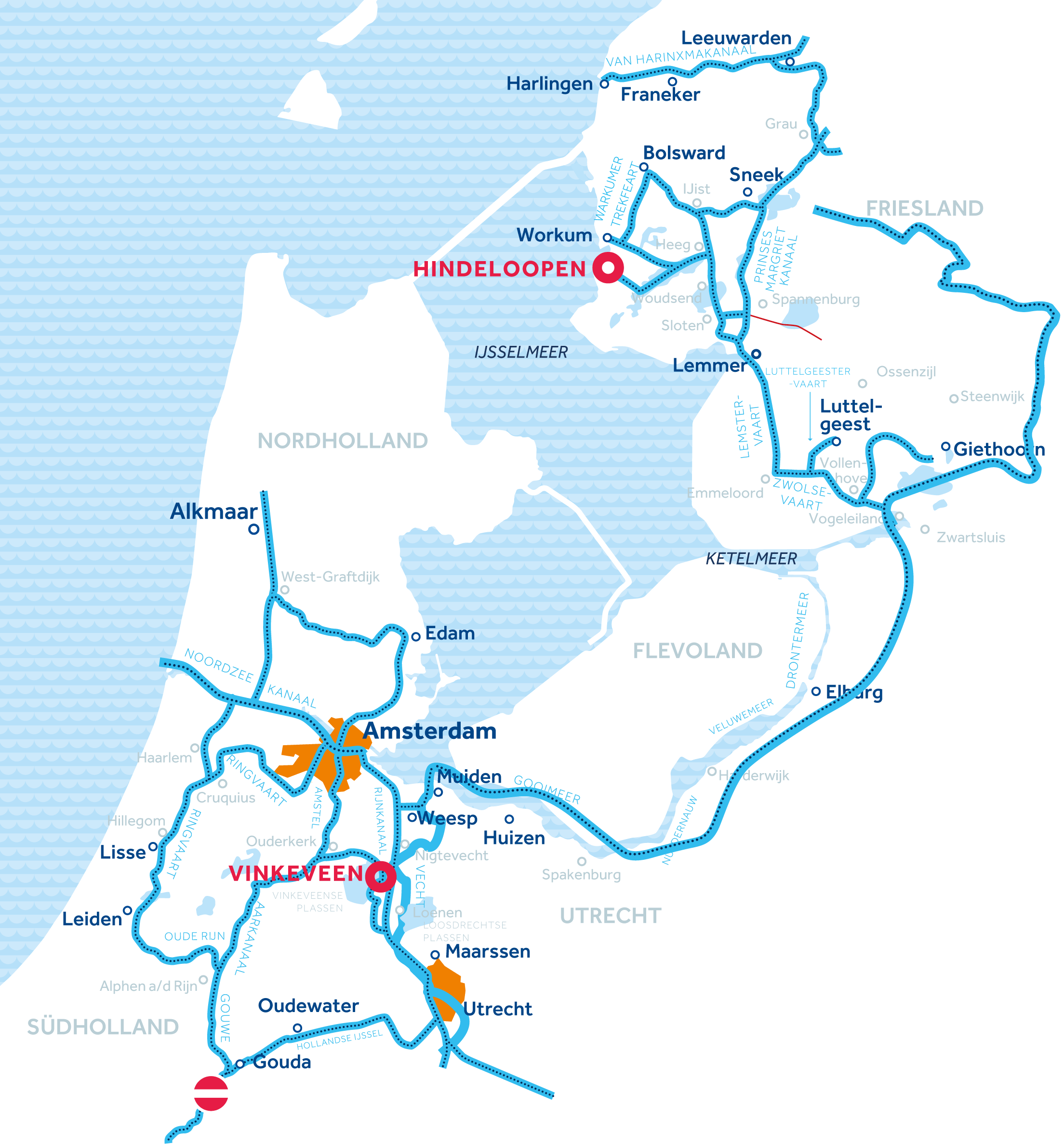binnengewässer holland karte