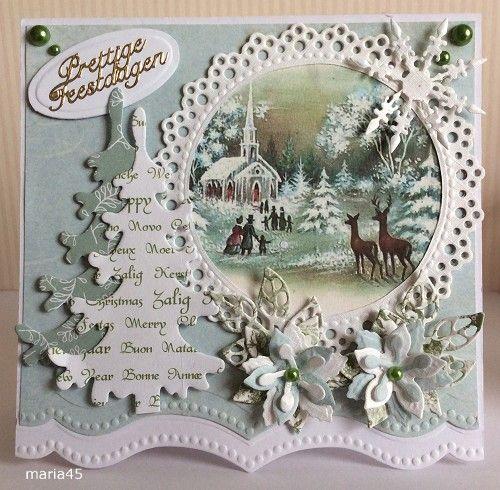 Voorbeeldkaart   Kerst   Categorie: Scrapkaarten   Hobbyjournaal Uw Hobby  Website | Christmas Cards Trees | Pinterest | Christmas Cards, Cards And  Xmas ...