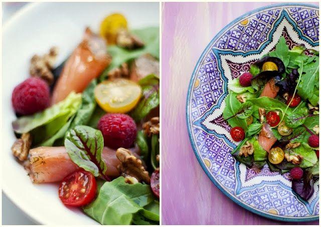 Bocados dulces y salados: Ensalada de salmón marinado con eneldo