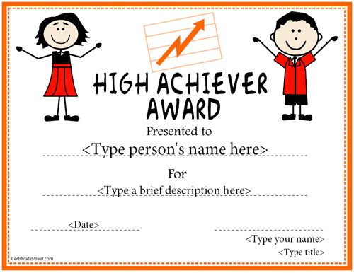 free printable childrens certificates templates.html