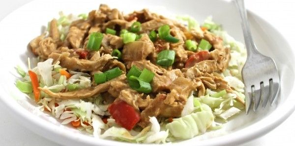 (Crock-pot) Skinny Thai Chicken with Peanut Sauce