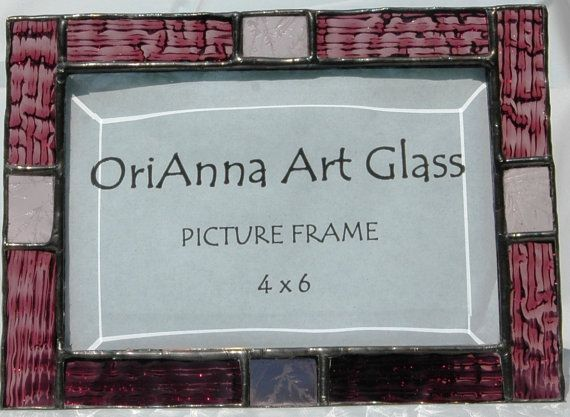 Stained Glass Picture Frame by OriAnnaGlassArt on Etsy, $18.00