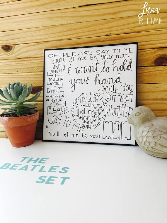 Beatles print set i want to hold your hand print in my life great beatles print set i want to hold your hand print in my life great idea paper anniversaryfirst anniversarymeaningful giftshand solutioingenieria Image collections