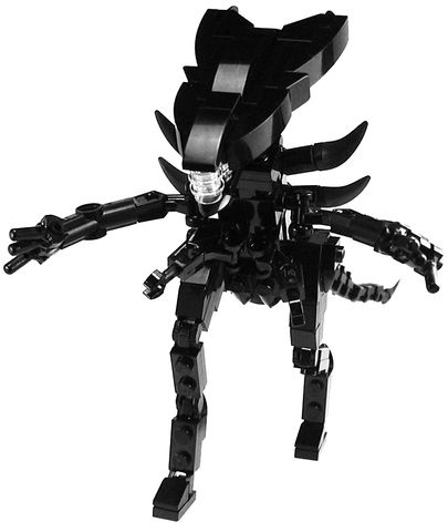 Custom LEGO Military Fantasy Movie Aliens Queen Xenomorph ...