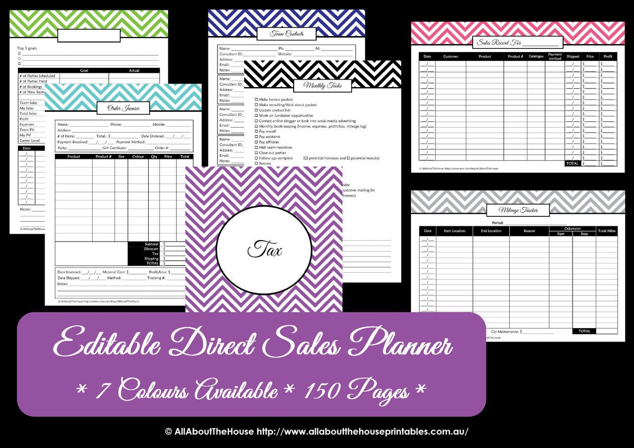 Purple Direct Sales Planner