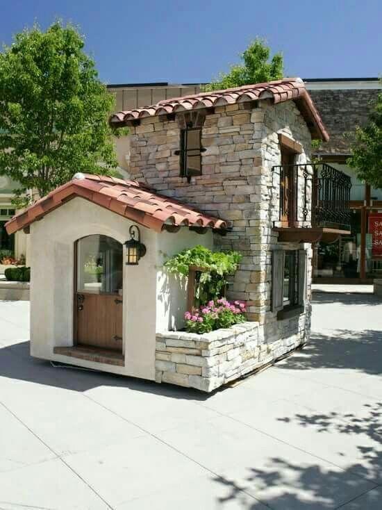 Casa de madera para ni os casa de juegos para ni as - Casita con tobogan para ninos ...