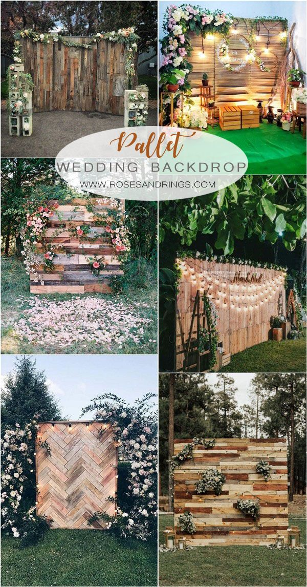 24 Rustic Country Wood Pallet Wedding Ideas
