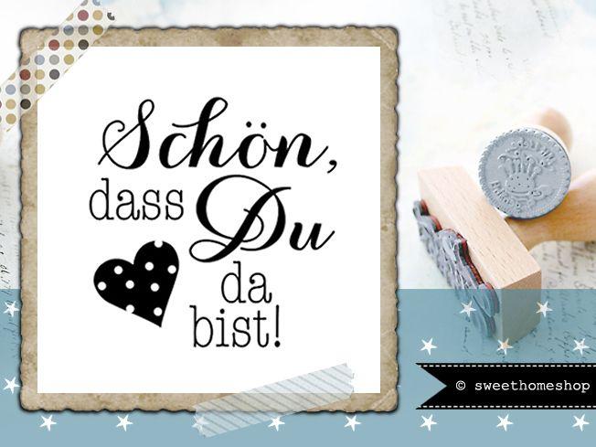 Stempel SCH–N DASS DU DA BIST 25 mm