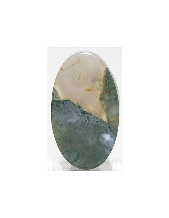 Green Moss Gem Agate Natural Semi Precious Stone by FenderMinerals