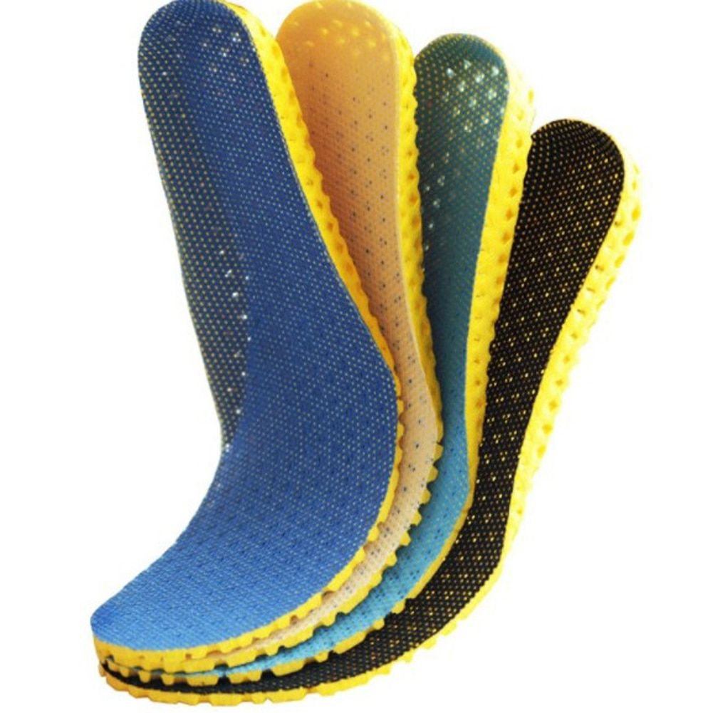 1 Pair Shock Absorption Sports Insoles Thickened Breathable Sports Shoe Pads