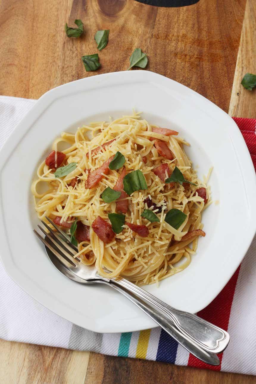 A Really Good Clic Pasta Carbonara