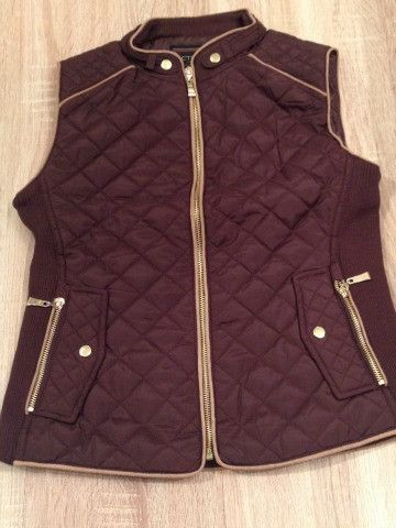 Brown Quilted Vest featuring camel color suede piping | Piper Vest in Camel from Sassy Shortcake Boutique