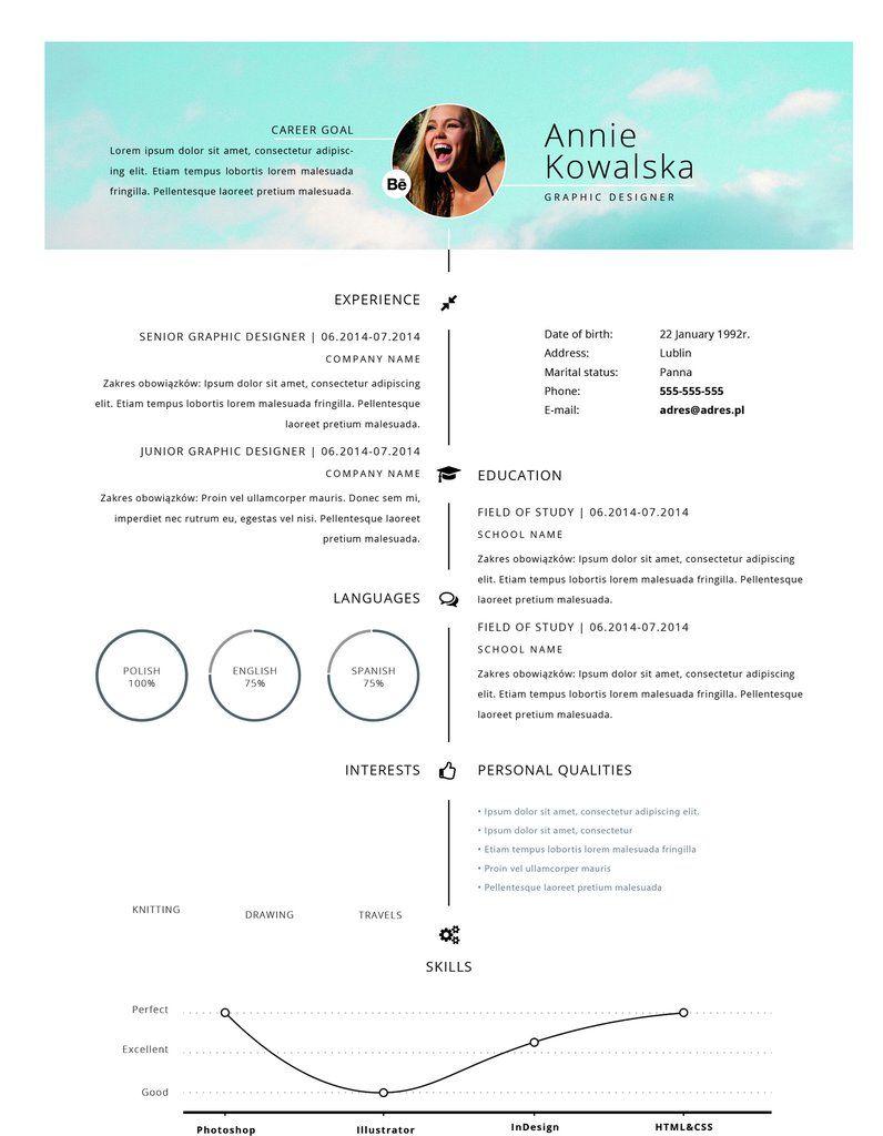 CV Resume Annie Kowalska – Entretiengo Modern Resume Template