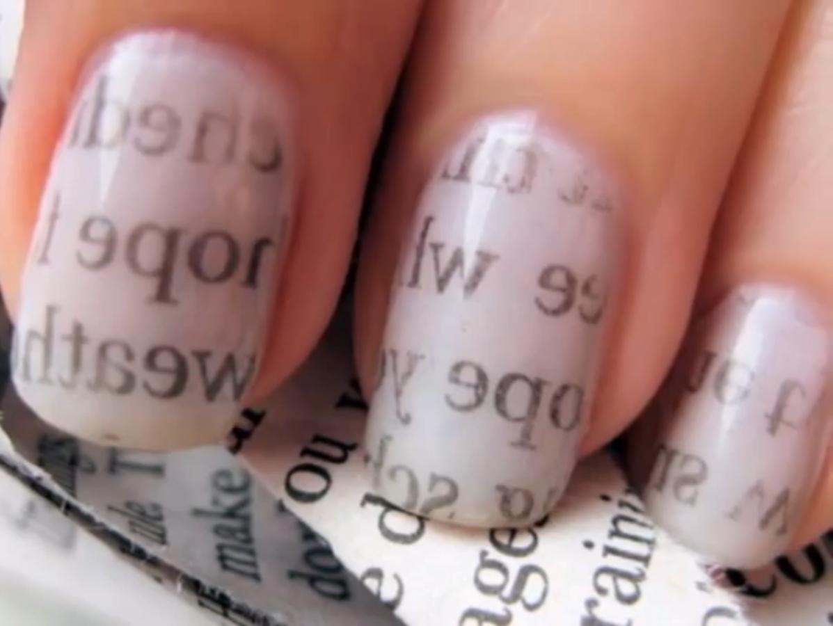 newspaper print nails | nails,nails and more nails | Pinterest ...