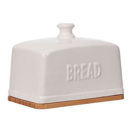 Kirkland S Ceramic Bread Box Ceramic Boxes White Ceramics