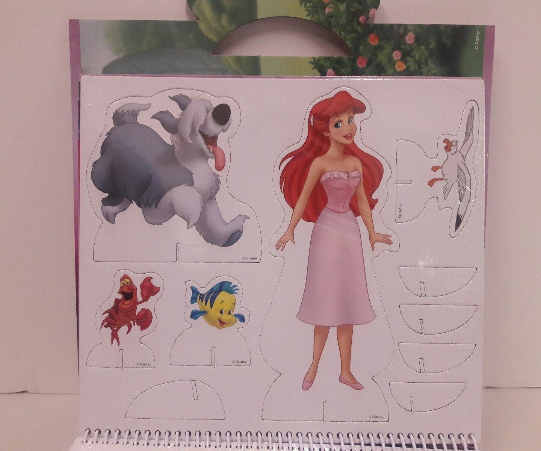 Disney Paper Doll Story Book - Brand New - Sealed Cinderella - Ariel