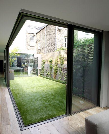 Garden Room House thin framed sliding doors