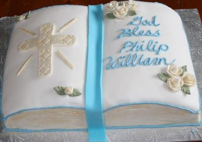 Christening Cake Book Design : Christening Bible Cake By Katilee39 on CakeCentral.com ...