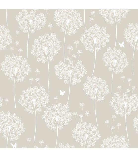 Wallpops Nuwallpaper Dandelion Taupe Peel And Stick Wallpaper Jo Ann Dandelion Wallpaper Nuwallpaper Vinyl Wallpaper