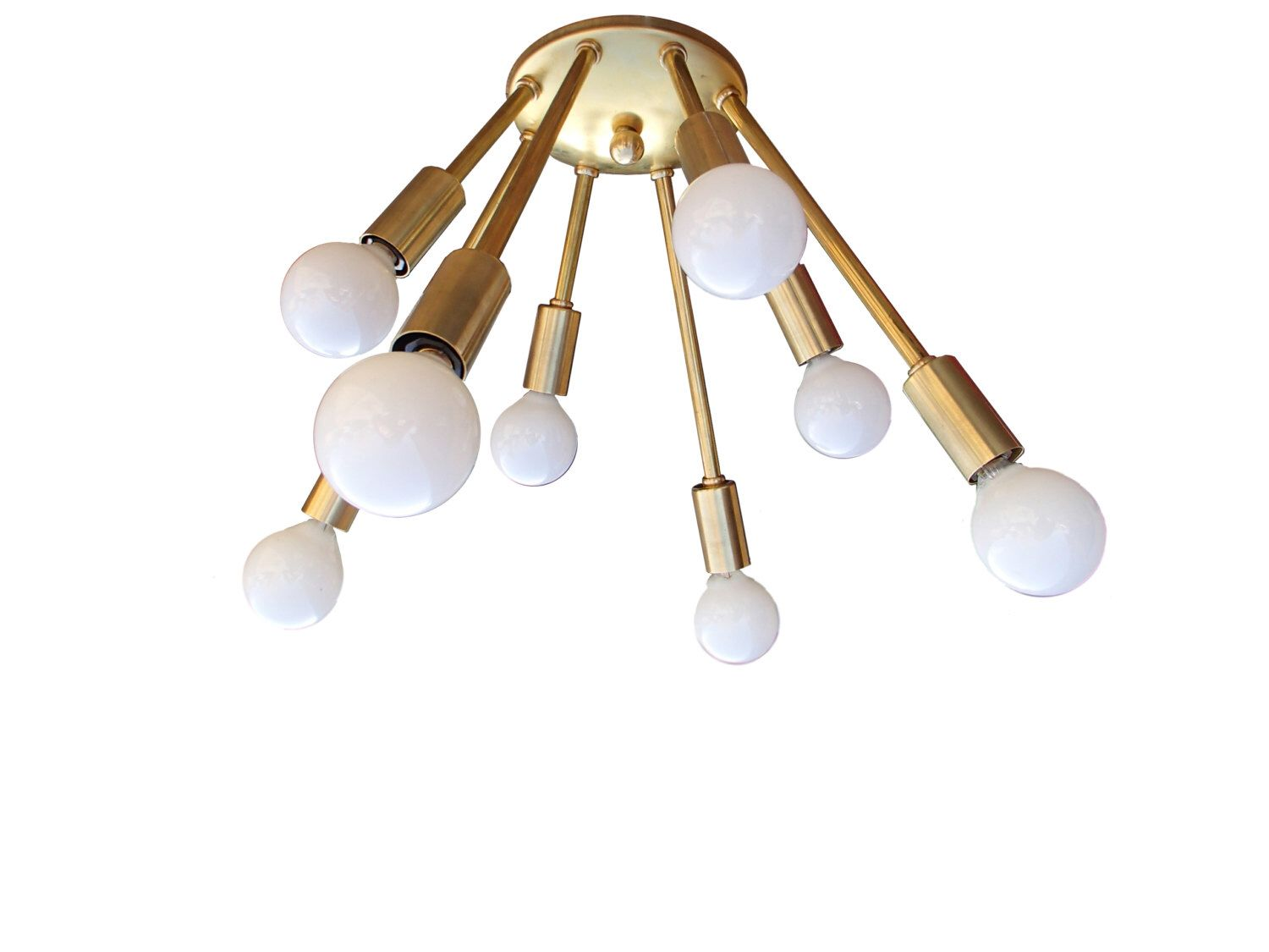 Quorum electra 8 light sputnik chandelier amp reviews wayfair - Atomic Narrow 8 Arm Flush Mount Sputnik Ceiling Light Mid Century Starburst