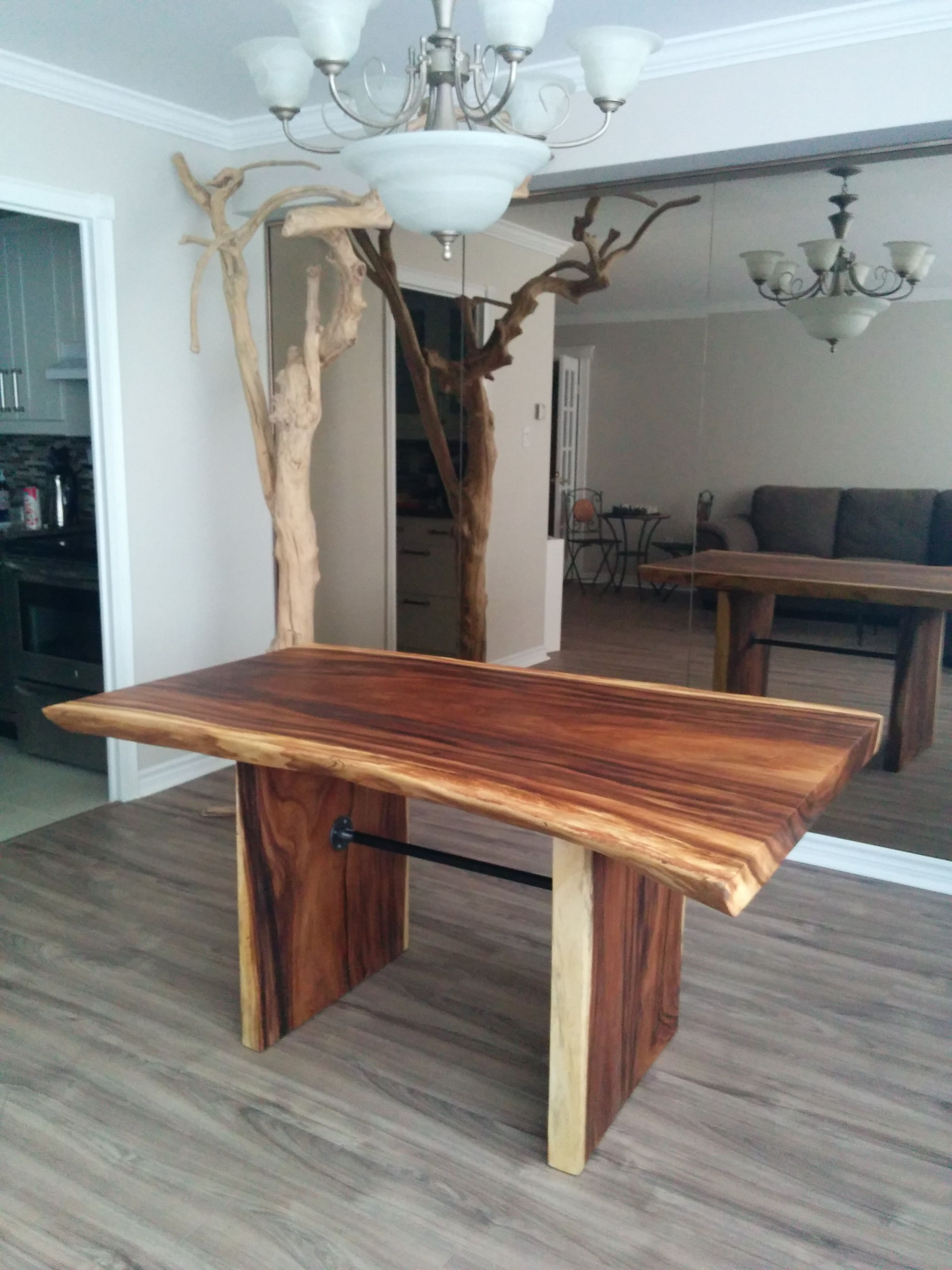 Custom live edge suar wood dining table features for Quality wood dining tables