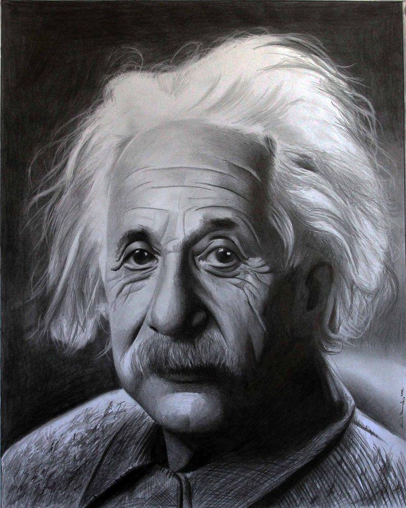 Albert Einstein by donchild on DeviantArt