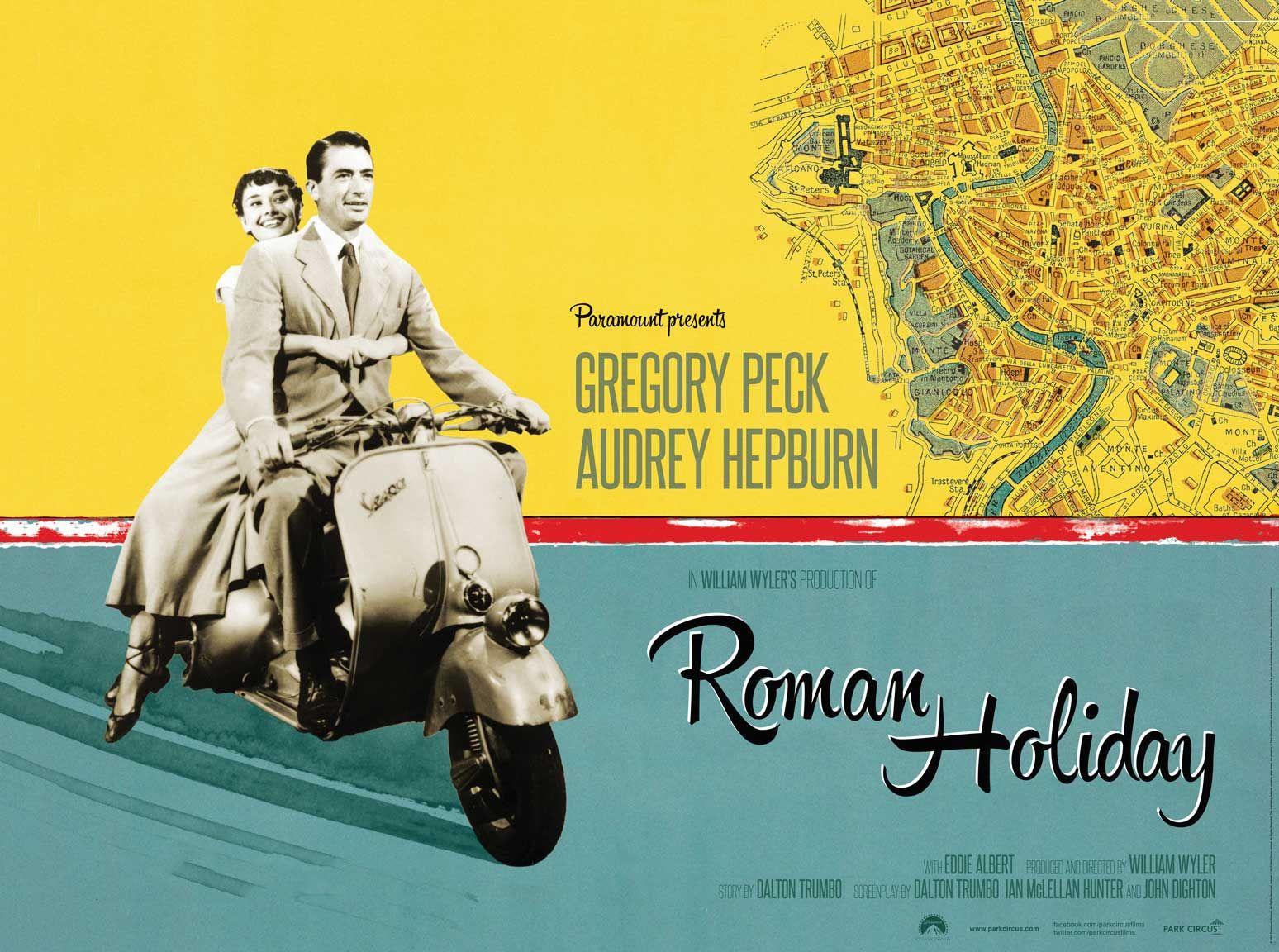 Roman Holiday poster | Roman holiday movie, Audrey hepburn roman ...