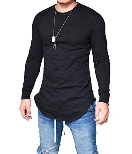 8eb850e6c Men's Long Sleeve Slim Fit Thin T-shirt Round Neck Breathable Autumn ...