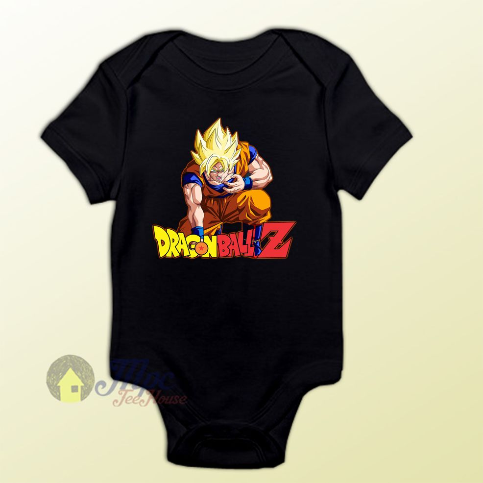 a3f8d110 Dragon Ball Z Son Goku Super Saiyan Baby Onesie, Printed on Original  Mpcteehouse. Awesome Baby suit Perfect Baby Shower or Birthday Gift.