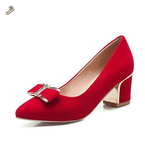 206ce07ae0d BalaMasa Womens Solid Slip-On Kitten-Heels Red Rubber Pumps-Shoes - 8 B(M)  US - Balamasa pumps for women ( Amazon Partner-Link)