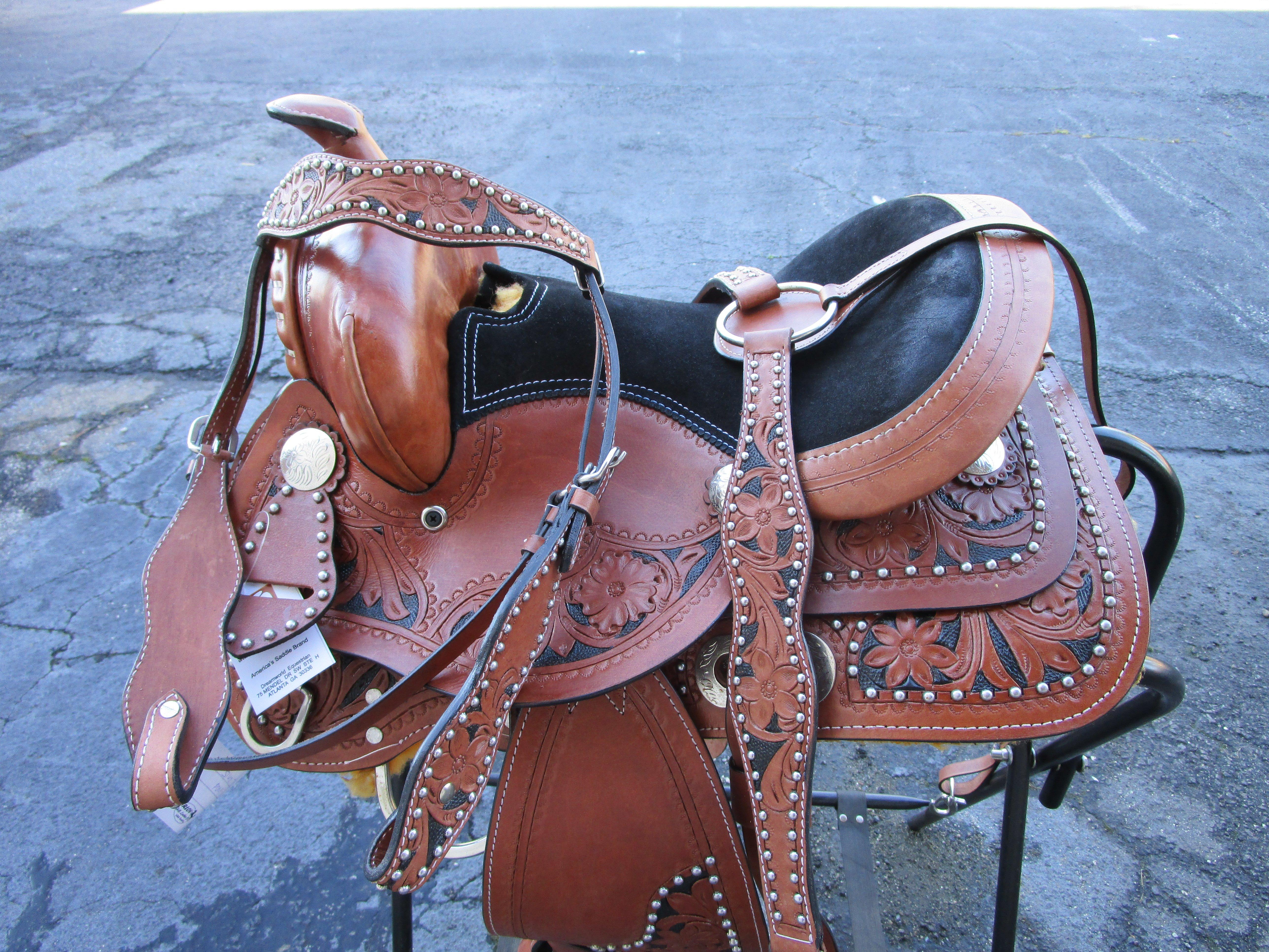 12 13 Show Pony Kids Youth Barrel Leather Western Horse Saddle Saddle Western Barrel Pleasure Western Horse Saddles Western Saddles For Sale Horse Saddles